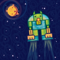 ilustracion-personaje-robot-volador